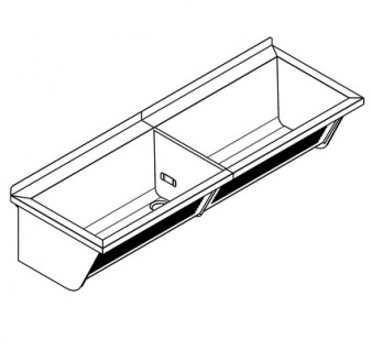 Franke Universalwaschtrog gemacht aus Chromnickelstahl 18/10 mit mittige Abläufe - Vorschau 3