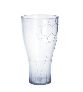20er Set Fussball Bierglas 0, 5l glasklar aus Kunststoff wiederverwendbar