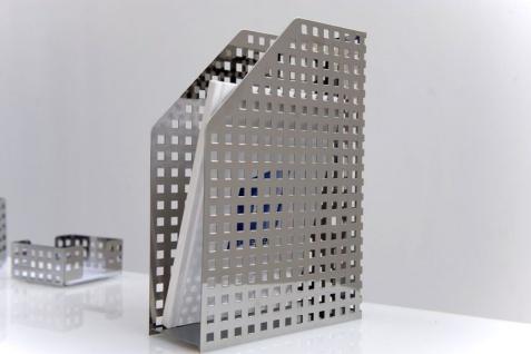 Graepel G-Line Pro Quadrotto Katalogordner aus poliertem Edelstahl 1.4016