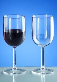 Kunststoff Weinglas 1/8l - 1/4l SAN glasklar wiederverwendbar Spülmaschinen tauglich - Vorschau 2