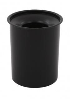 Selbstlöschender Papierkorb aus Stahl, 13 Liter Schwarz