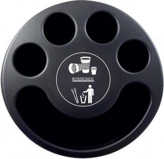 Rossignol Multigob schwarzer Bechersammler aus Kunststoff mit oder ohne Abfallkorb - Vorschau 4