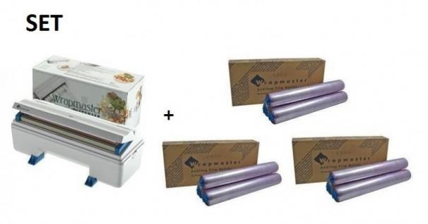 SET Effizienter Wrapmaster Spender WM3000 und + 3 Pack. Frischhaltefolie 3000