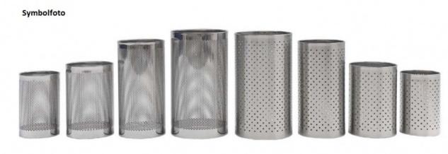 Graepel G-Line Pro FORATO Papierkörbe aus schwarzem Stahl 1.4016, 4 Größen + 4 Farben - Vorschau 2