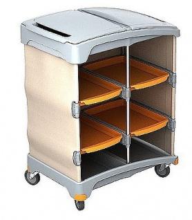 Leinenbeutel Splast Hotelwagen aus Holz mit 6 Schubladen und 2 Plastikdeckel inkl