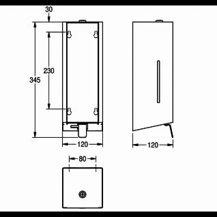 Franke Flüssigseifenspender EXOS. in 3 verschiedenen Varianten erhältlich - Vorschau 4