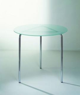 Graepel Tempesta erstklassiger Indoor Tisch verchromt mit Tischfläche aus Sekuritglas