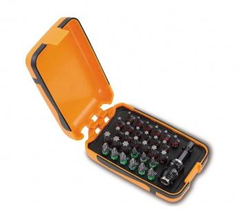 Beta Sortiment mit 30 Schraubeinsätzen und magnetischer, schnellauslösender Schraubeinsatzhalter, im Kunststoffkasten 860PHT/A31