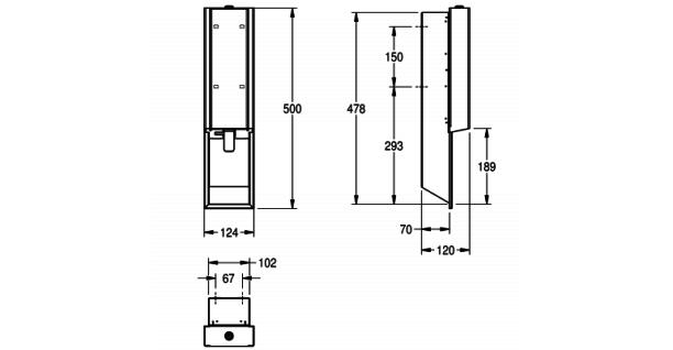 Franke Schaumseifenspender für Unterputzmontage in 3 verschiedenen Varianten erhältlich EXOS. - Vorschau 4