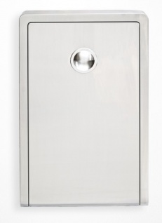 Edelstahl Koala Wickelstation KB111-SSWM Vertikal Aufputz MICROBAN® Hygieneschutz