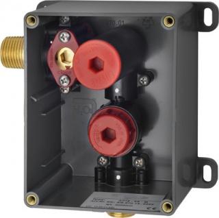 Franke Rohbauset zur opto-elektronisch gesteuerten Urinalspülarmatur für Wandeinbau