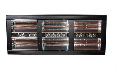 Heatlight HLQB Quarz schwarzer Infrarotstrahler 12000 Watt mit 2 versch. Lampenfarben