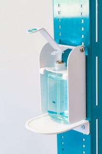 Hygiene- und Desinfektions-Station inkl. Desinfektionspender und inkl. Halterung für Papierhandtuchrolle und Handschuhe, Abfallbox 13lt. - Vorschau 2