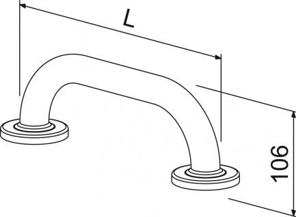 Wagner-EWAR Haltegriff BF 600 Edelstahl strukturiert - Vorschau 2