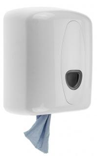 PlastiQline 2020 Putzrollenspender aus Kunststoff mit Schloss zur Wandmontage