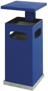 Ascher-Papierkorb mit abnehmbarem Dach 70 Liter