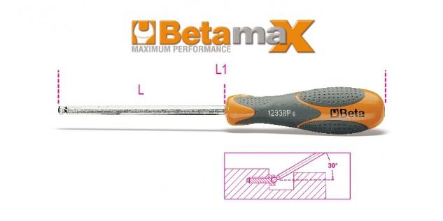Beta Sechskant-Stiftschlüssel mit kugelförmigem Kopf, mit Griff 1293BP