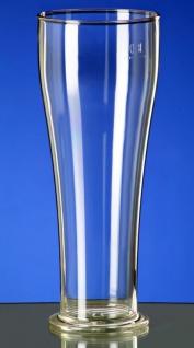 Weizenbierglas 0, 3L / 0, 5L SAN glasklar aus Kunststoff wiederverwendbar und robust - Vorschau 3
