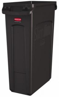 RUBBERMAID Slim Jim® Abfallbehälter mit Lüftungskanälen 87 Liter