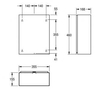 Franke Abfallbehälter RODX605 aus Chromnickelstahl zur Aufputzmontage - Vorschau 3