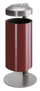 Ascher-Papierkorb aus Metall 50 Liter auf Ständer