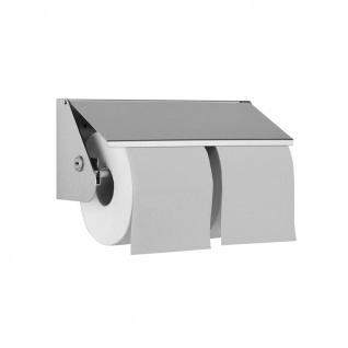 Wagner-EWAR Doppel-Toilettenpapierhalter WP149 Edelstahl für Aufputzmontage