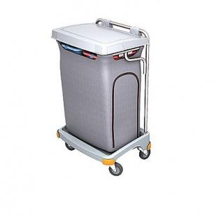 Splast grauer Zweifach-Müllwagen aus Kunststoff 2x 70l - Deckel ist optional