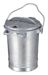 Stahlverzinkter feuerfester Abfallbehälter 35 Liter