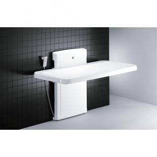 Pressalit weiße Dusch- und Pflegeliege 2000 mit Elektromotor, max. 175 kg