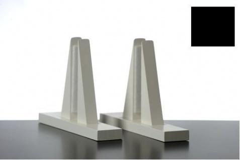 Elbo Therm Holzstandfüße 2 Stück aus Naturholz in weiß oder schwarz - Vorschau 3
