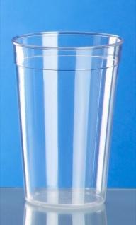 Kunststoff Mehrweg-Becher glasklar 0, 2l - 0, 5l PC wiederverwendbar stapelbar - Vorschau 2