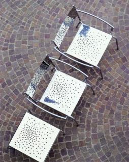 Tempesta hochwertiger Outdoor Armstuhl aus Edelstahl 1.4016 silber lackiert und behandelt - Vorschau 3