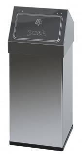 Carro-Push Abfallbehälter 55 Liter aus Edelstahl oder Aluminium