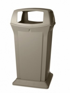 RUBBERMAID Ranger Abfallbehälter mit Oberteil mit 4 Öffnungen 170, 3 l aus Polyethylen