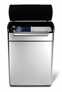 Simplehuman Rectangular Touch-Bar Bin 2x24 Liter