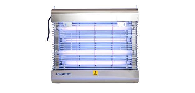 Genus® Liberator Killer 4 x 15W Splitterschutz Lampen IEC Edelstahl Insektengriller - Vorschau 2