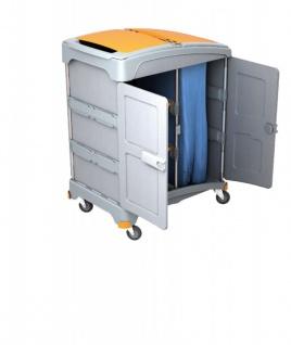 Splast mobiles Nassreinigungssystem mit 2 Ablagefächern und Müllsackhalter 120l
