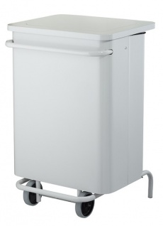 Rossignol fahrbarer Abfallbehälter 70 Liter mit Pedal und abnehmbarer Front