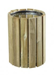 Rossignol Eden Holzmülleimer 20L zur Wand- oder Pfostenbefestigung