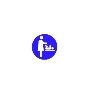 Wickeltisch Aufkleber Frau - Lieferbar in Blau, Braun Rot oder Grün