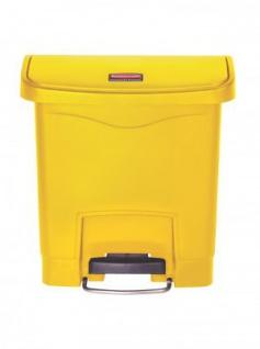 RUBBERMAID Slim Jim® Kunststoff-Tretabfallbehälter mit Pedal an der Breitseite 15 L - Vorschau 2
