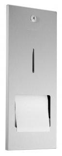Wagner-EWAR Toilettenpapierhalter mit verdeckter Reserverolle WP167 Edelstahl für Unterputzmontage