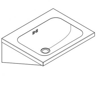 Franke Waschtisch WT500A aus Chromnickelstahl zur Wandmontage - Vorschau 2