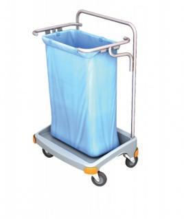 Splast Einzel-Abfallwagen 120l aus Kunststoff - erhältlich mit oder ohne Deckel