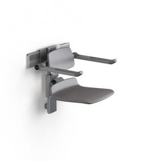 Pressalit PLUS 450 Duschstuhl manuell höhenverstellbar und seitlich verschiebbar