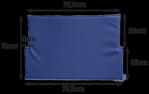 Wickeltisch-Auflage KawaQ in blau oder weiß Timkid