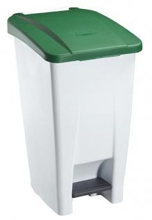 Rossignol fahrbarer Abfallbehälter mit Pedal 60L aus Polyethylen-Kunststoff - Vorschau 3