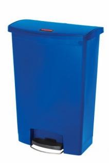 RUBBERMAID Slim Jim® Kunststoff-Tretabfallbehälter mit Pedal an der Breitseite 90 L