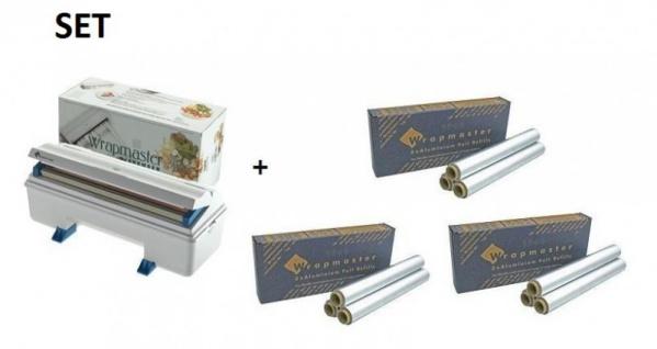SET Effizienter Wrapmaster-Spender WM3000 und 3 Pack. Aluminiumfolie 3000