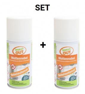2er Set Insect-OUT® Mottennebel 150 ml - Mit dem Wirkstoff der Chrysanthemenblume